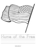 Home of the Free Worksheet