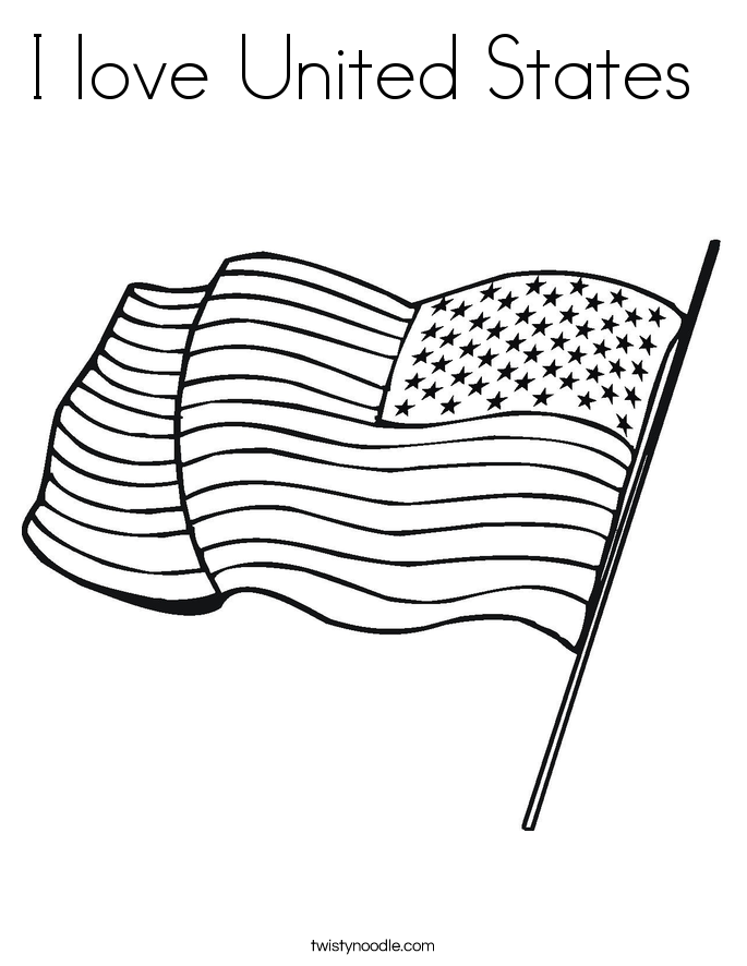 I love United States  Coloring Page