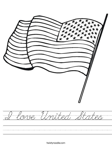 United States of America Flag Worksheet