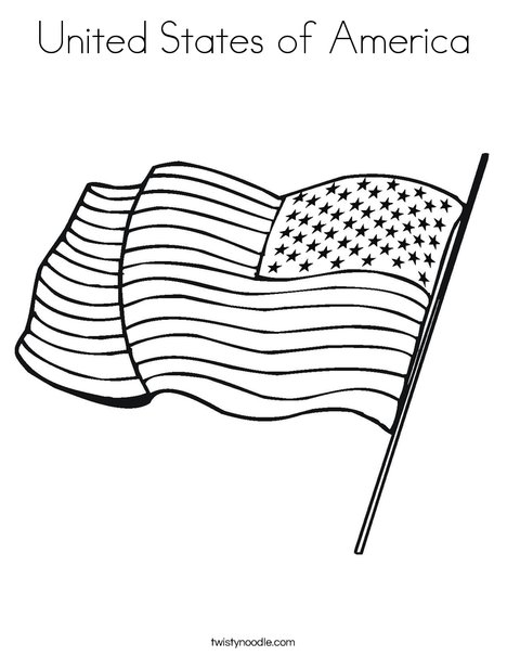 united states of america coloring page twisty noodle