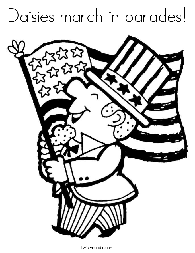 Daisies march in parades! Coloring Page
