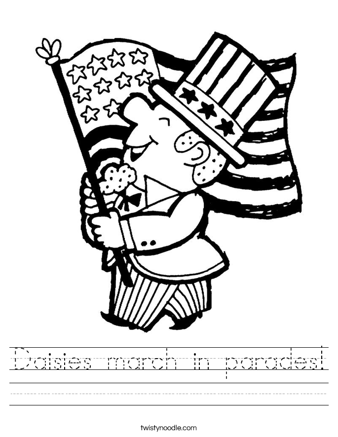 Daisies march in parades! Worksheet