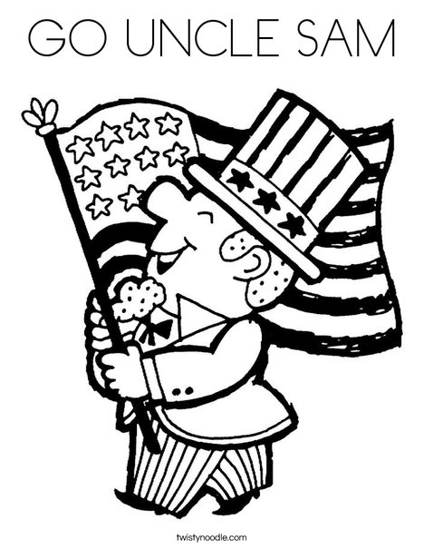 GO UNCLE SAM Coloring Page - Twisty Noodle
