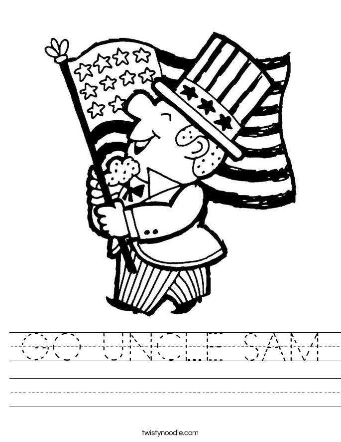 GO UNCLE SAM Worksheet