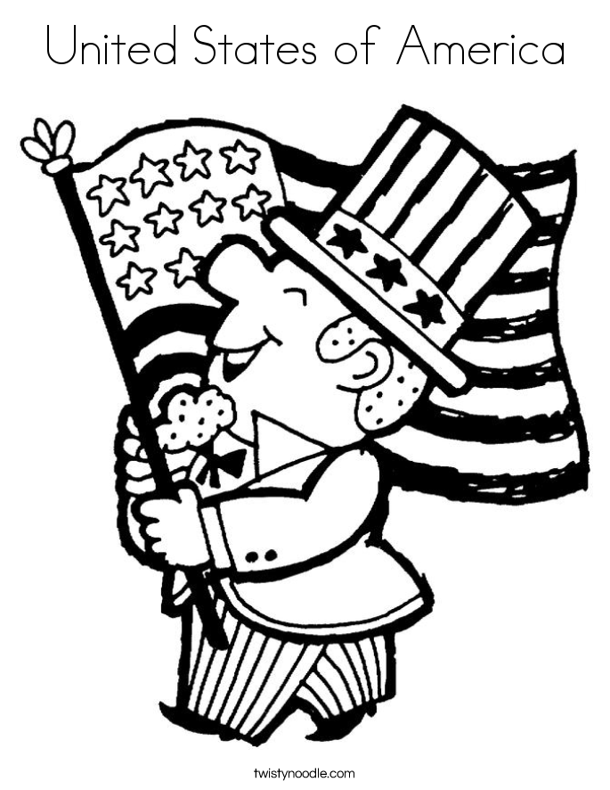 United States of America Coloring Page