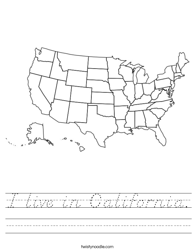 I live in California. Worksheet