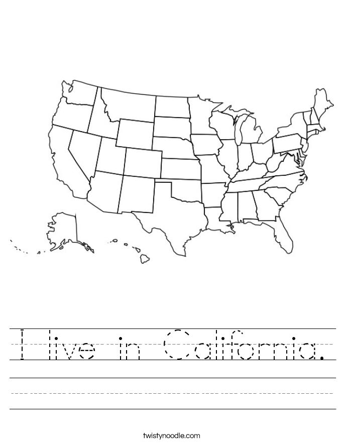 I live in California. Worksheet