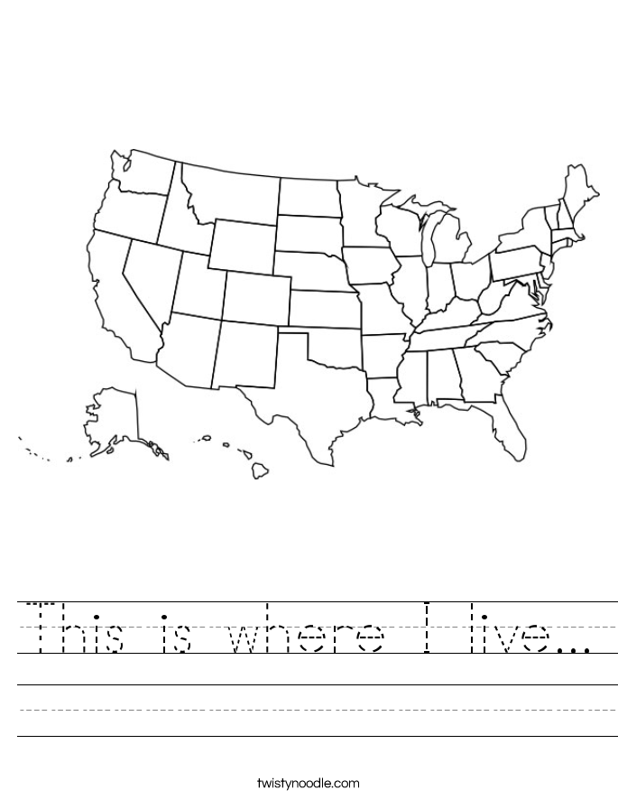 This is where I live... Worksheet