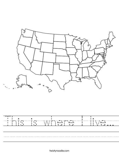 English worksheets: Where I live