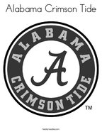 Alabama Crimson Tide Coloring Page