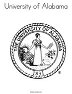 University of Alabama Coloring Page