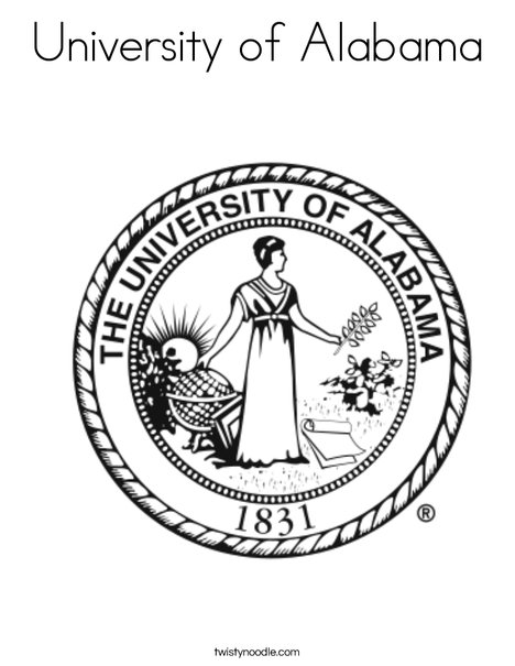 University of Alabama Seal Coloring Page