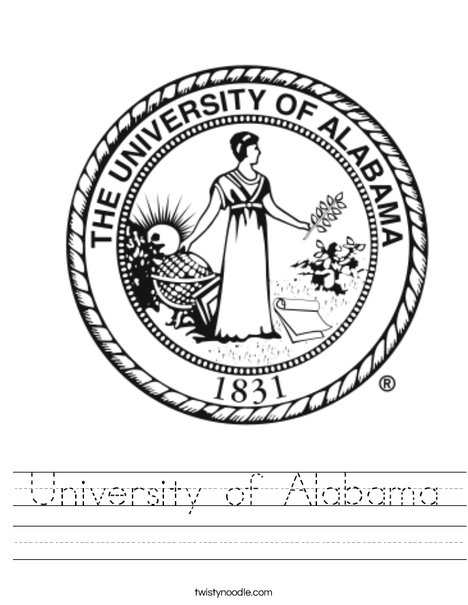 University of Alabama Seal Worksheet