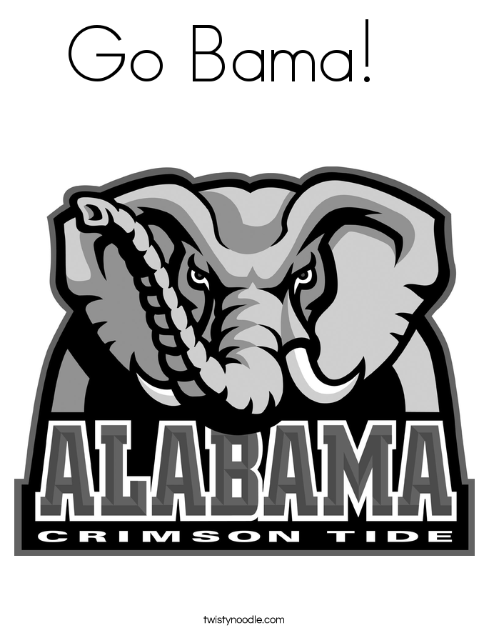 Go Bama!   Coloring Page