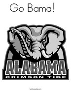 Go Bama   Coloring Page