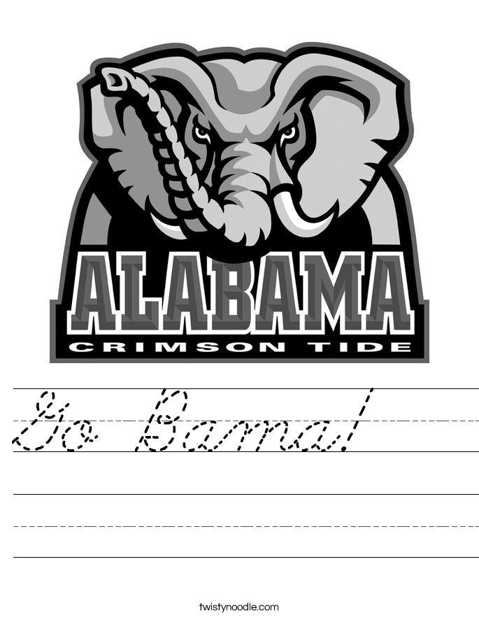 Go Bama!   Worksheet