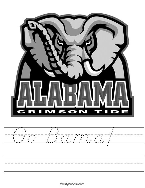 University of Alabama Worksheet