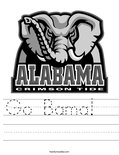 Go Bama!   Worksheet