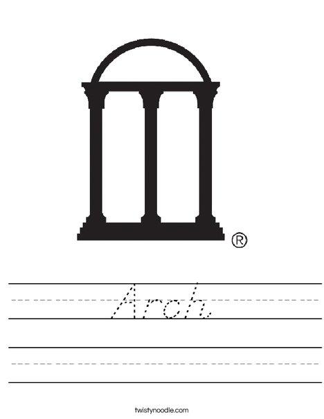 University of Georgia Arches Worksheet
