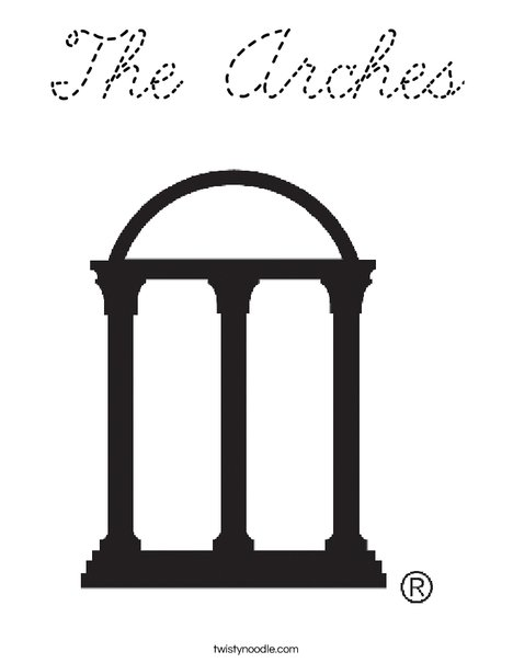 University of Georgia Arches Coloring Page