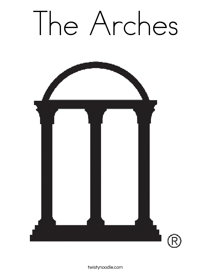 The Arches Coloring Page
