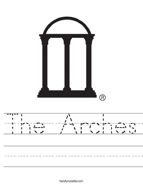University of Georgia Arches Worksheet