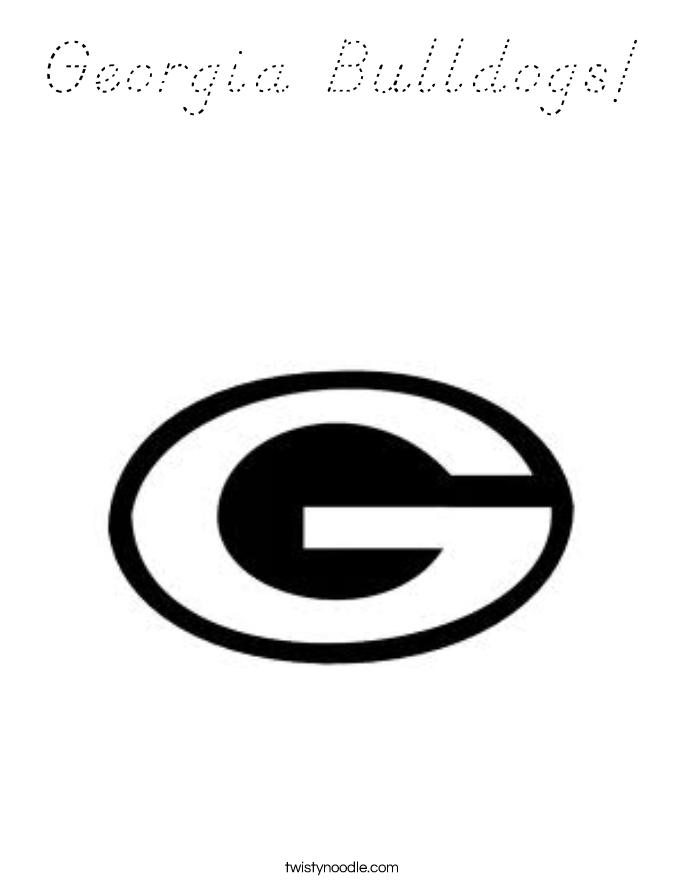 Georgia Bulldogs! Coloring Page