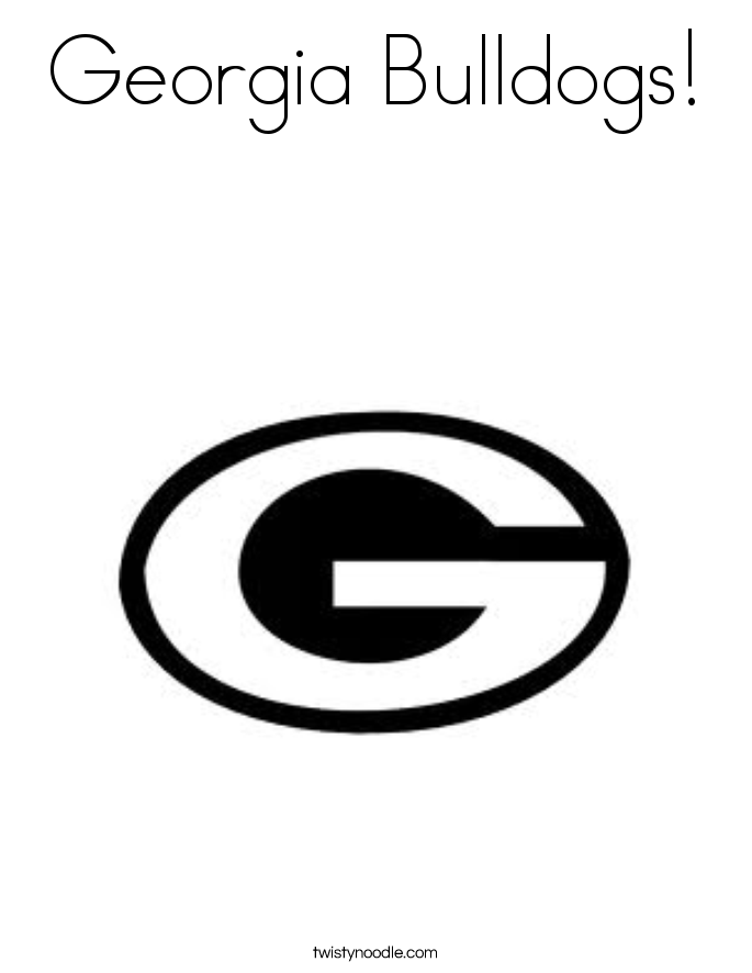 University of georgia free coloring pages for Free printable bulldog coloring page