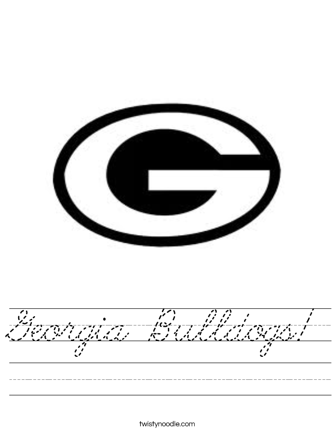 Georgia Bulldogs! Worksheet
