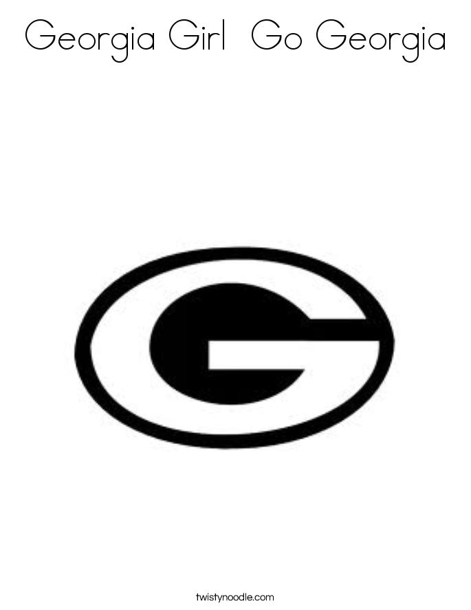 Georgia Girl  Go Georgia Coloring Page