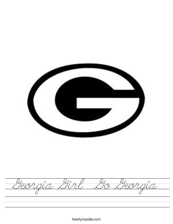 Georgia Girl  Go Georgia Worksheet