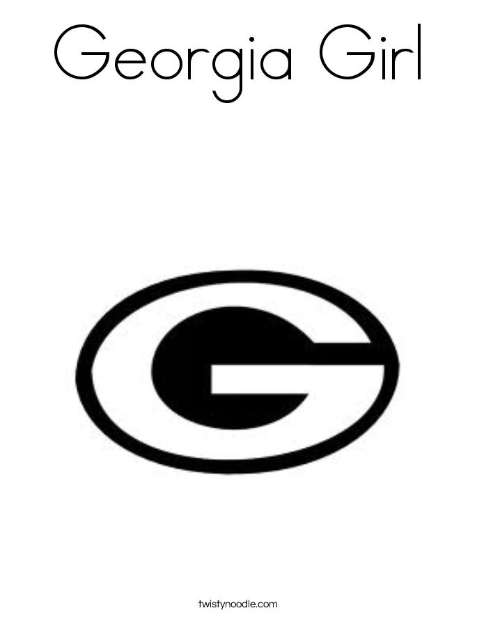 Georgia Girl Coloring Page