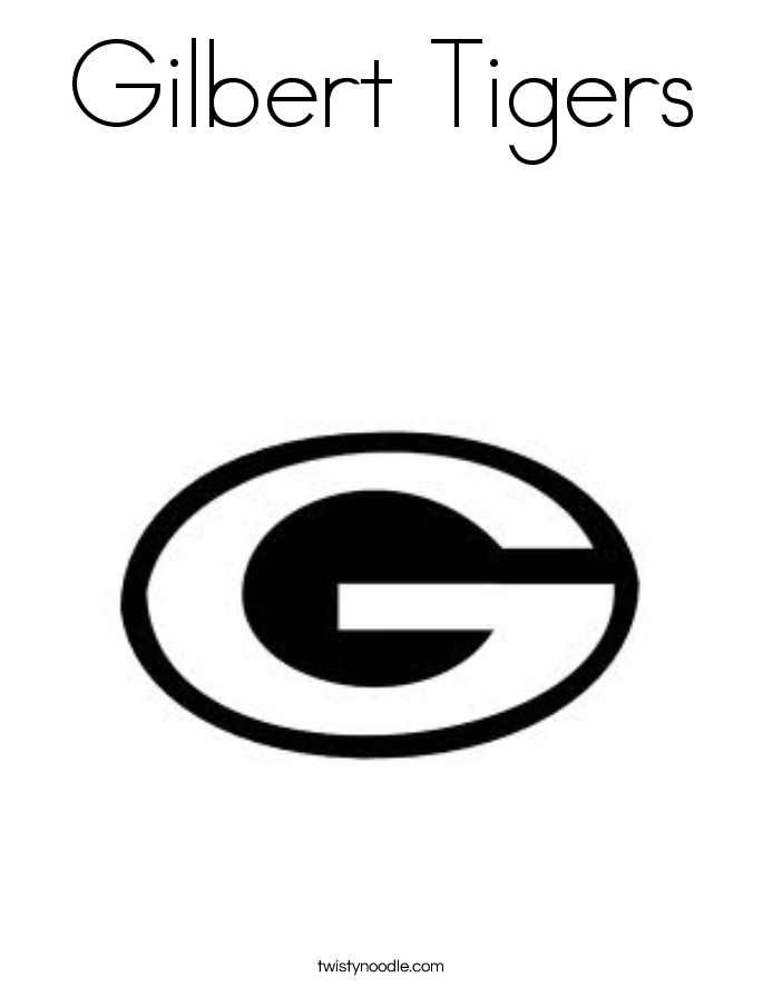 Gilbert Tigers Coloring Page