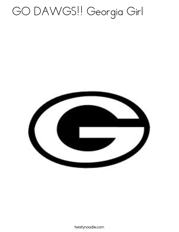 GO DAWGS!! Georgia Girl        Coloring Page