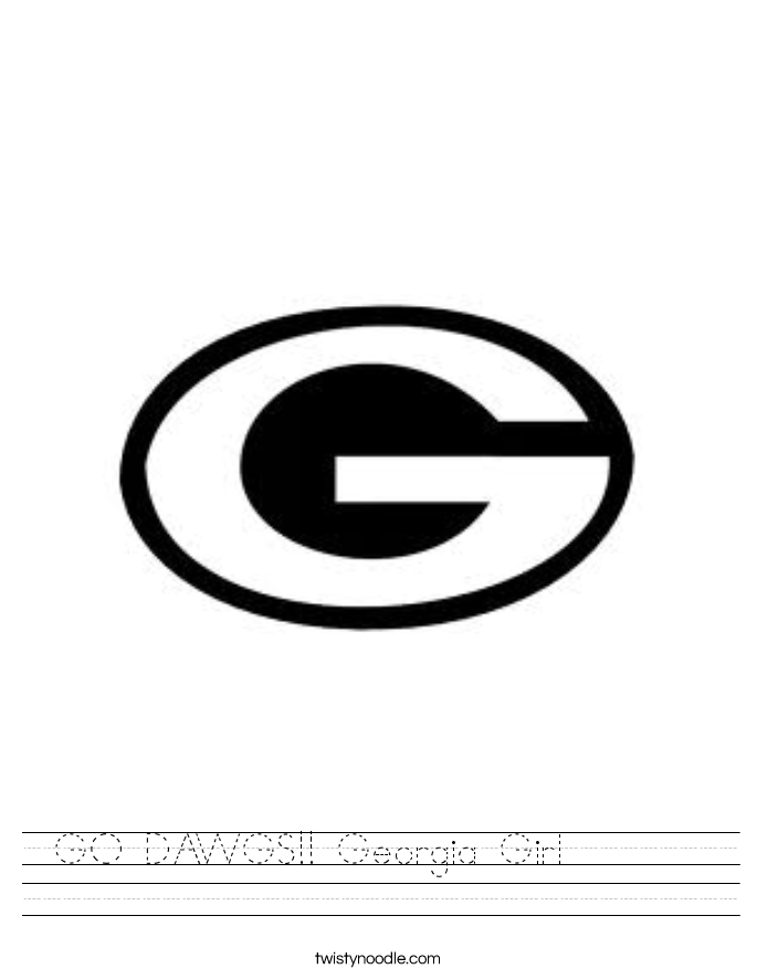 GO DAWGS!! Georgia Girl        Worksheet