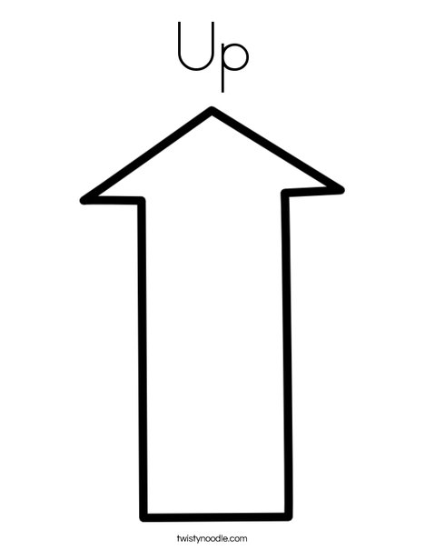 Up Arrow Coloring Page