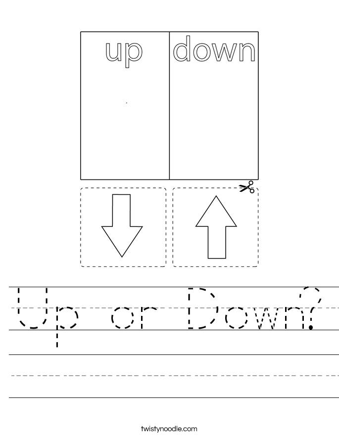 Up or Down? Worksheet