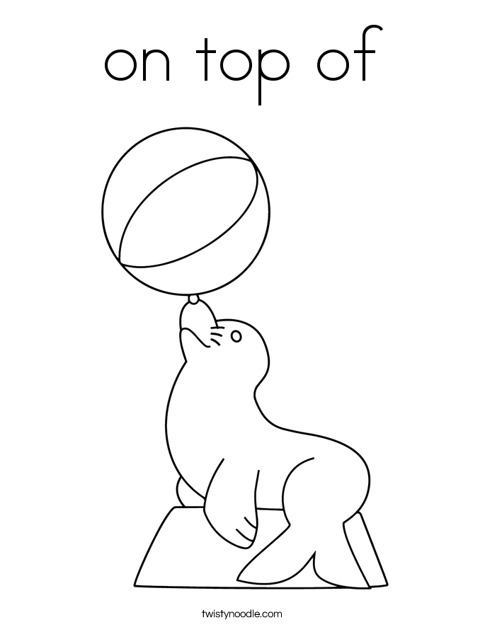 on top of Coloring Page