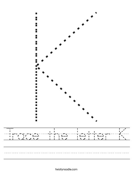 Uppercase Letter K Worksheet