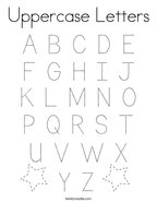Uppercase Letters Coloring Page