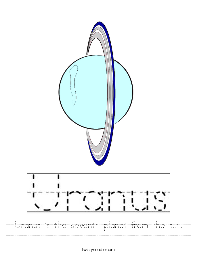 Uranus is the seventh planet from the sun. Worksheet