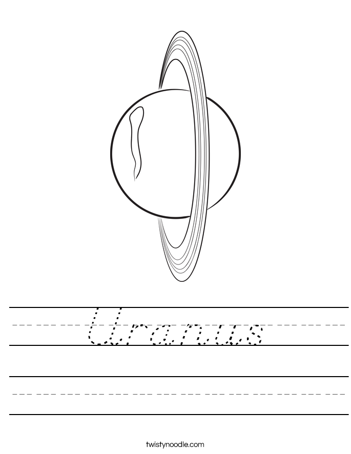 Uranus Worksheet