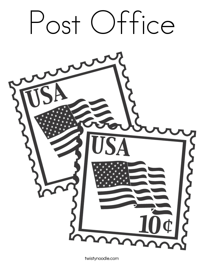 Post Office Coloring Page