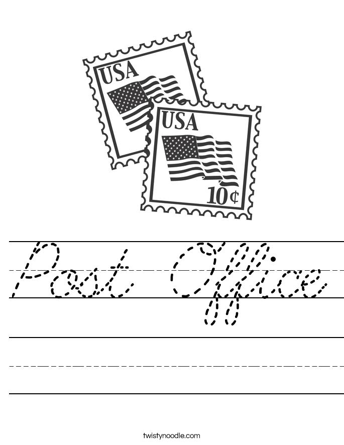 Post Office Worksheet