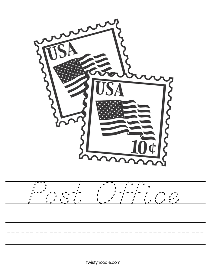 Post Office Worksheet