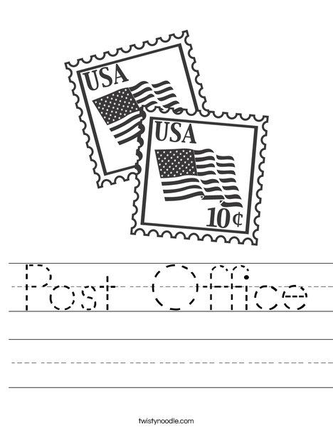 US Stamps with Flags Worksheet