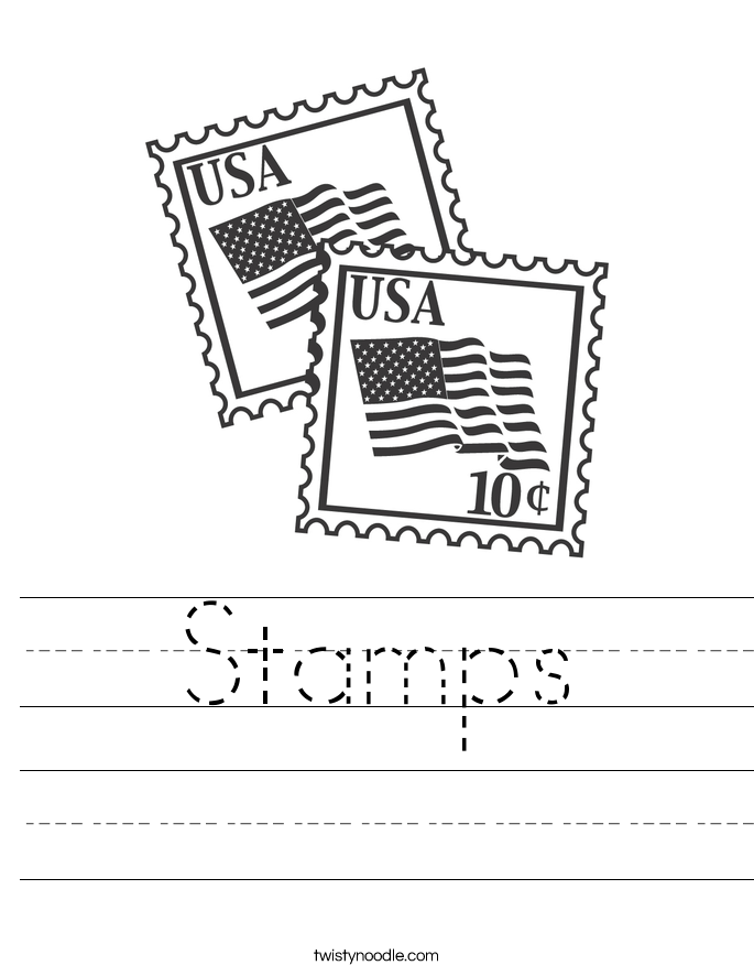 Stamps Worksheet