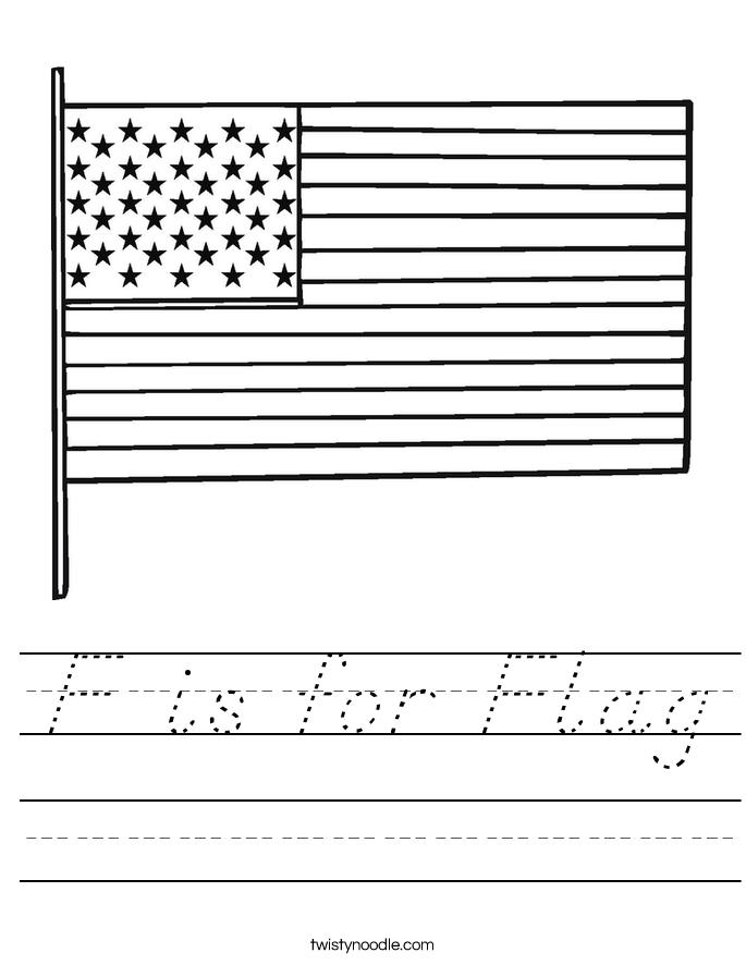 F is for Flag Worksheet