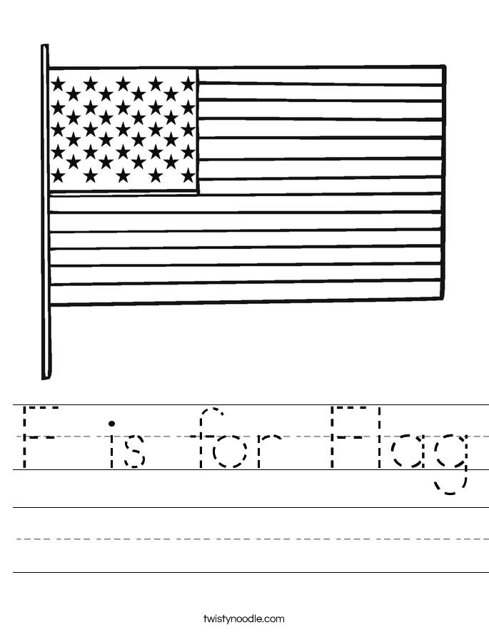 F is for Flag Worksheet - Twisty Noodle