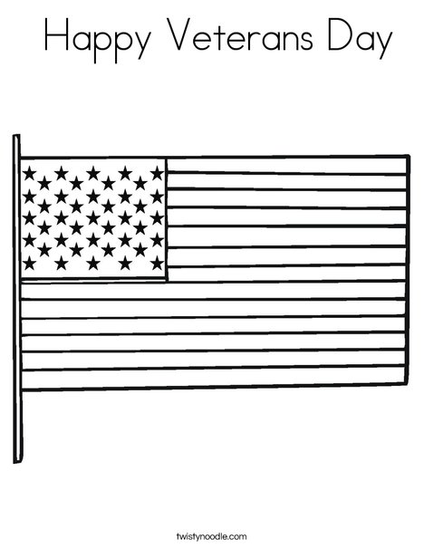 USA Flag Coloring Page